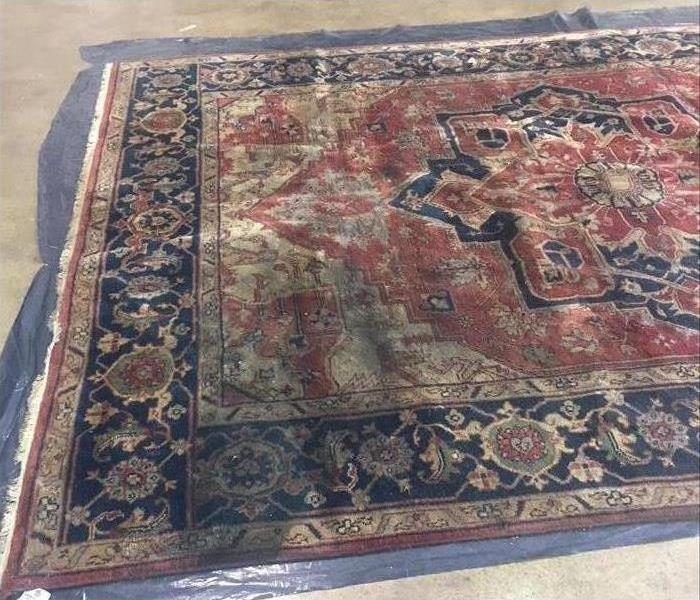 Rug cleaning after storm event Before